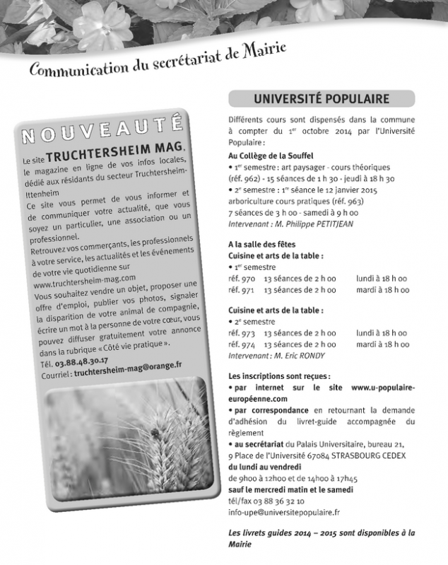 Bulletin municipal de pfulgriesheim septembre 2014